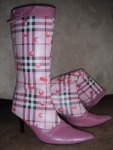boots, cherry, pink, happy, Gilles St