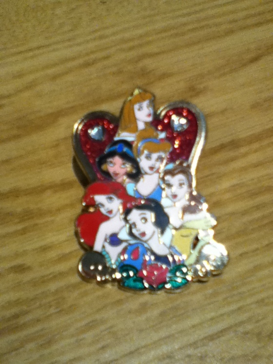 Disney princesses, pin, Disneyland, student gift
