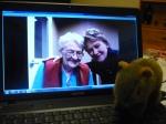 skype, computer, mom, gran,
