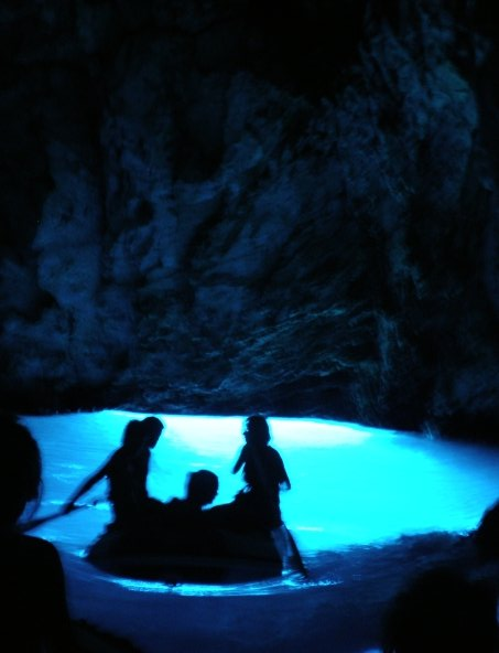 blue cave, croatia, water, lights, blue, colour, bright