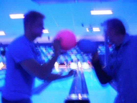 bowling, black light, bright, flourescent